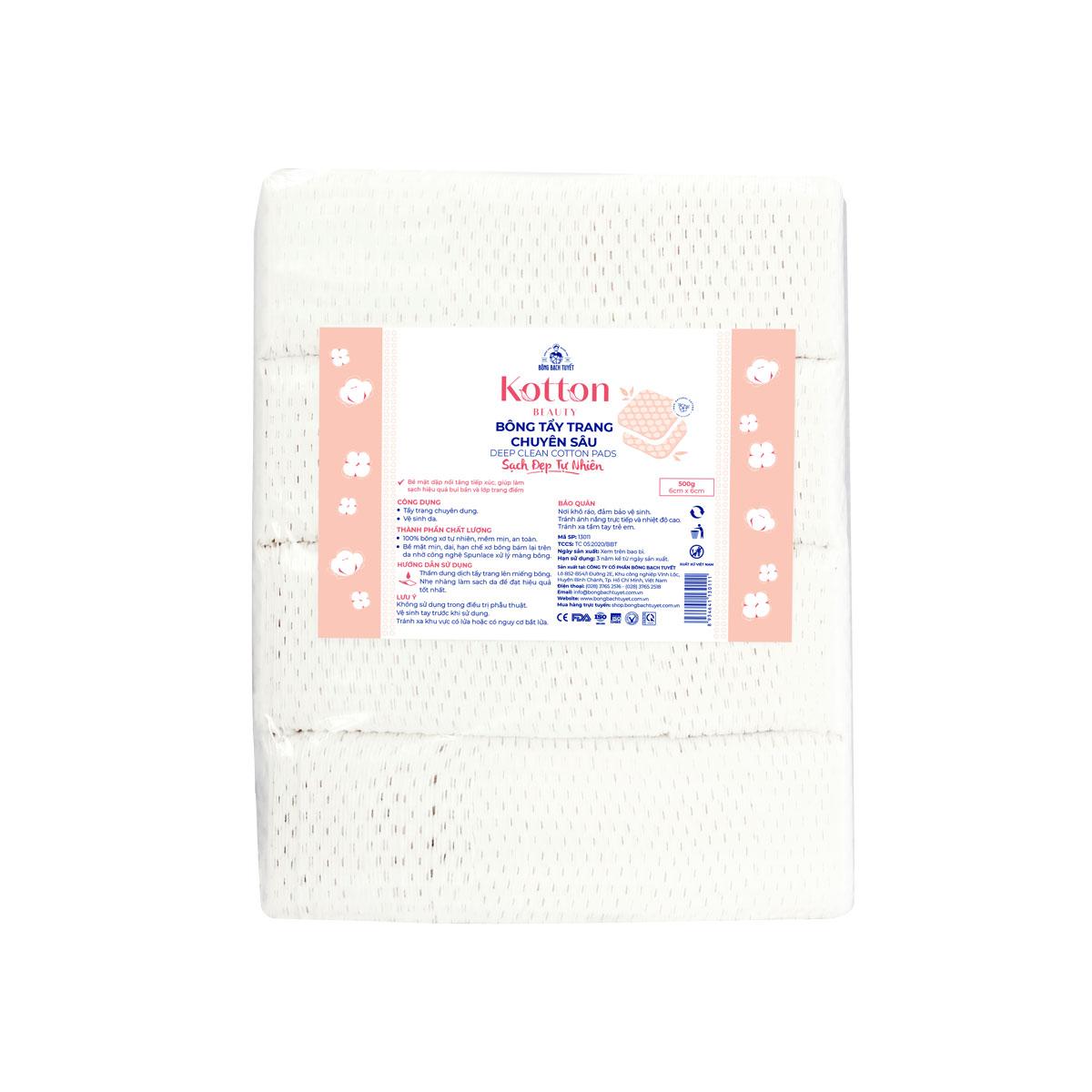 Bông tẩy trang cotton 500g|1kg chuyên sâu - Kotton Beauty