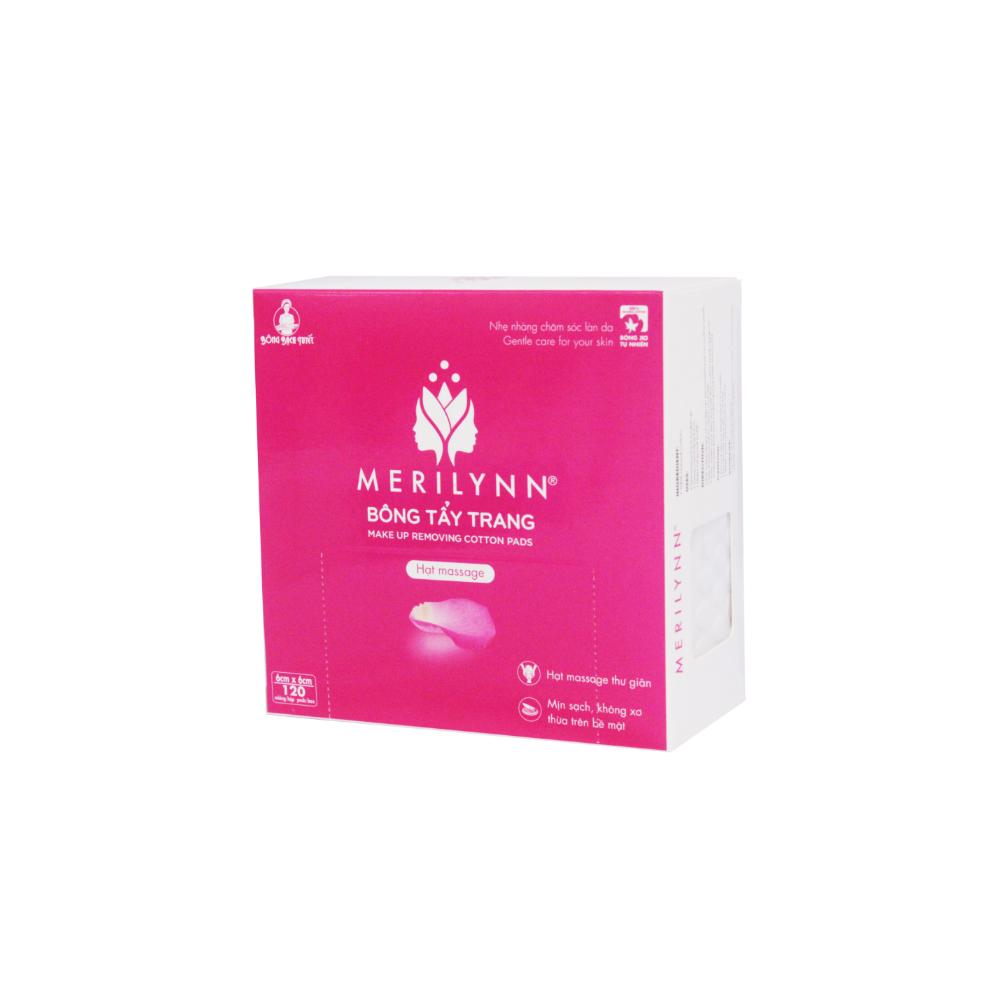 Bông tẩy trang Merilynn hạt massage | Bông Bạch Tuyết