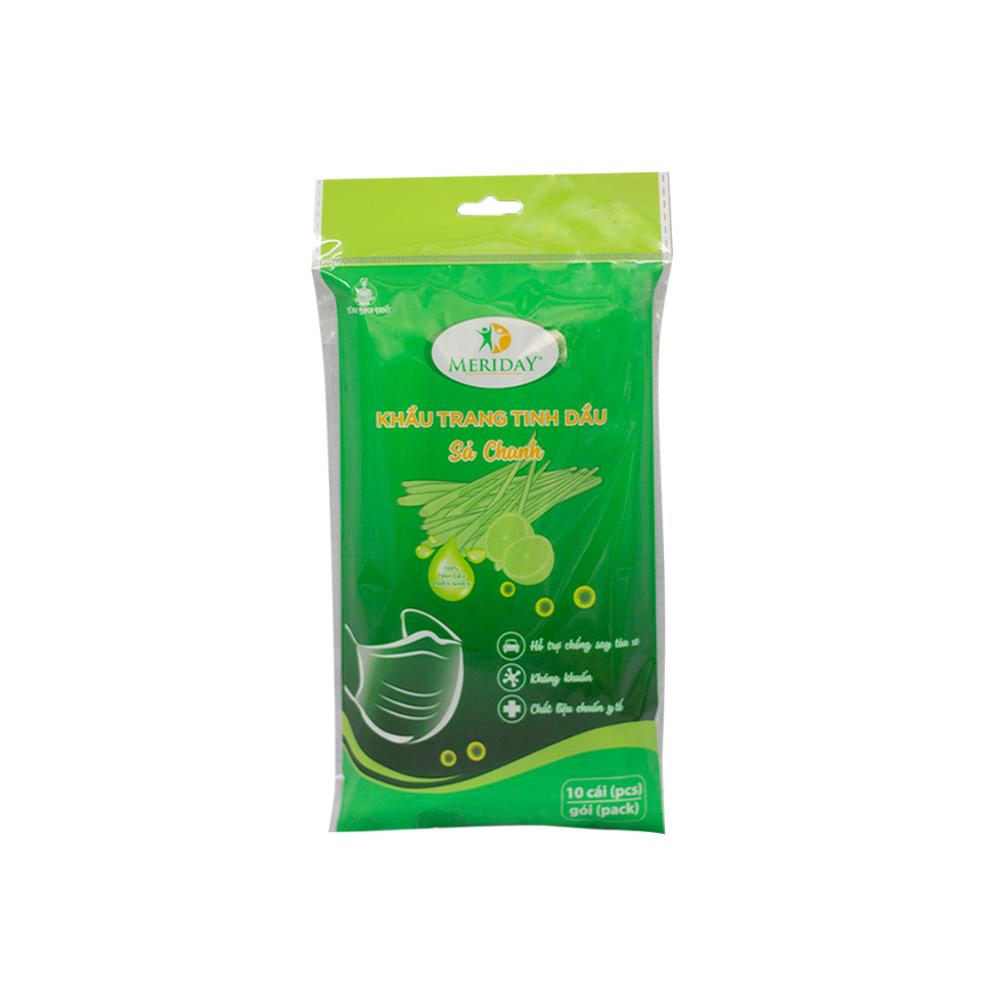 Khẩu trang tinh dầu sả Meriday - Sản Phẩm Y Tế | Bông Bạch Tuyết