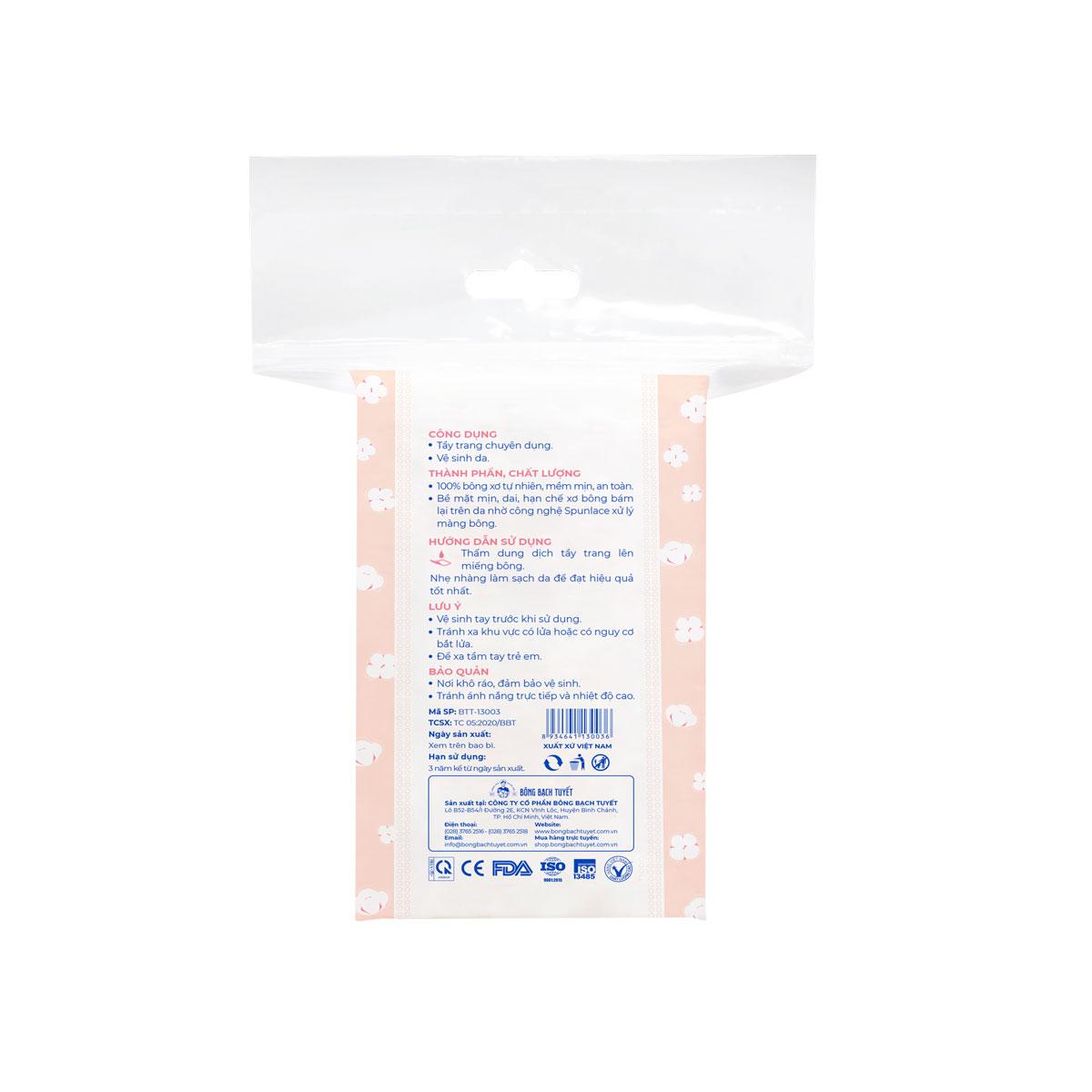 Bông tẩy trang cotton 60|120 miếng chuyên sâu - Kotton Beauty