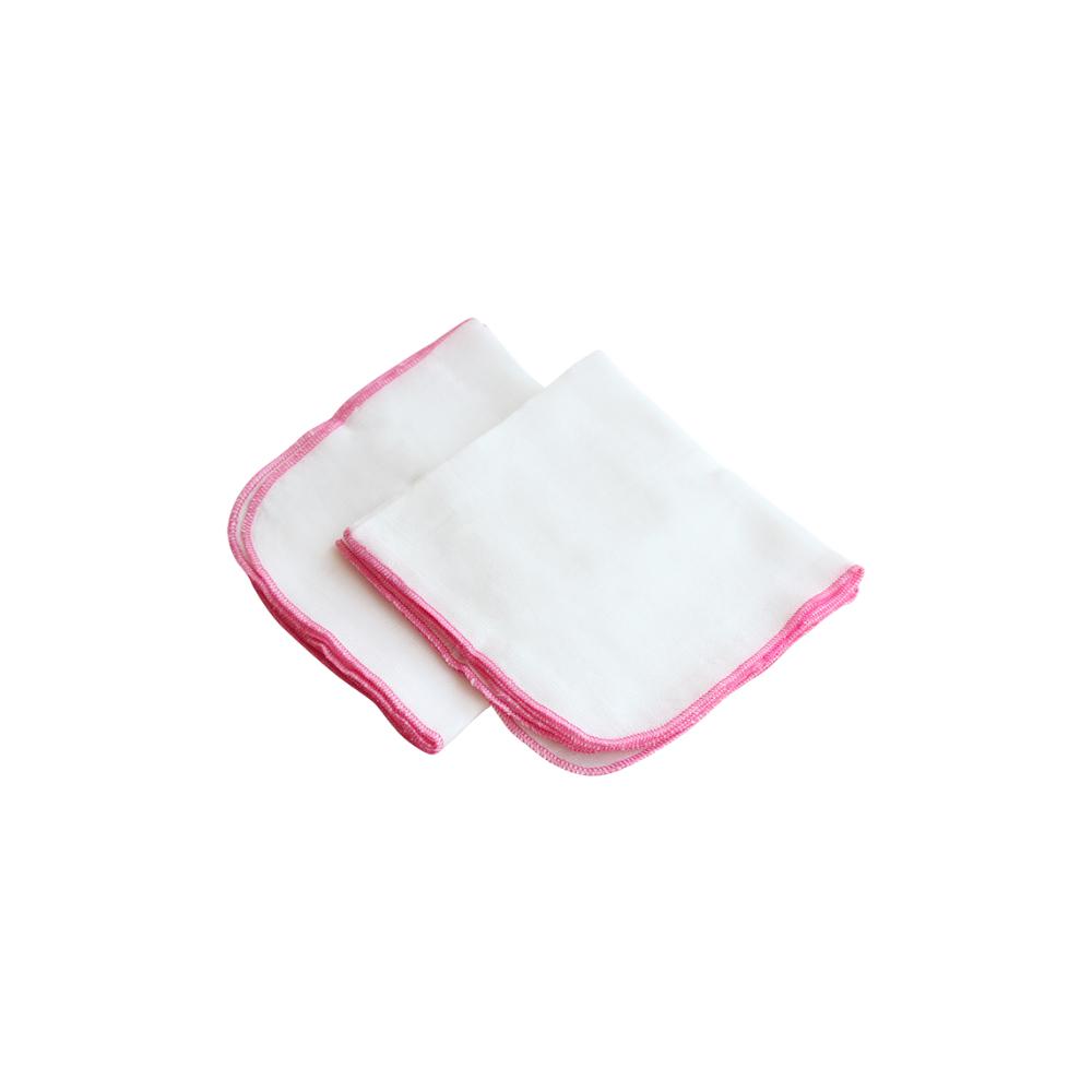 Khăn sữa Merigo viền hồng | Bông Bạch Tuyết
