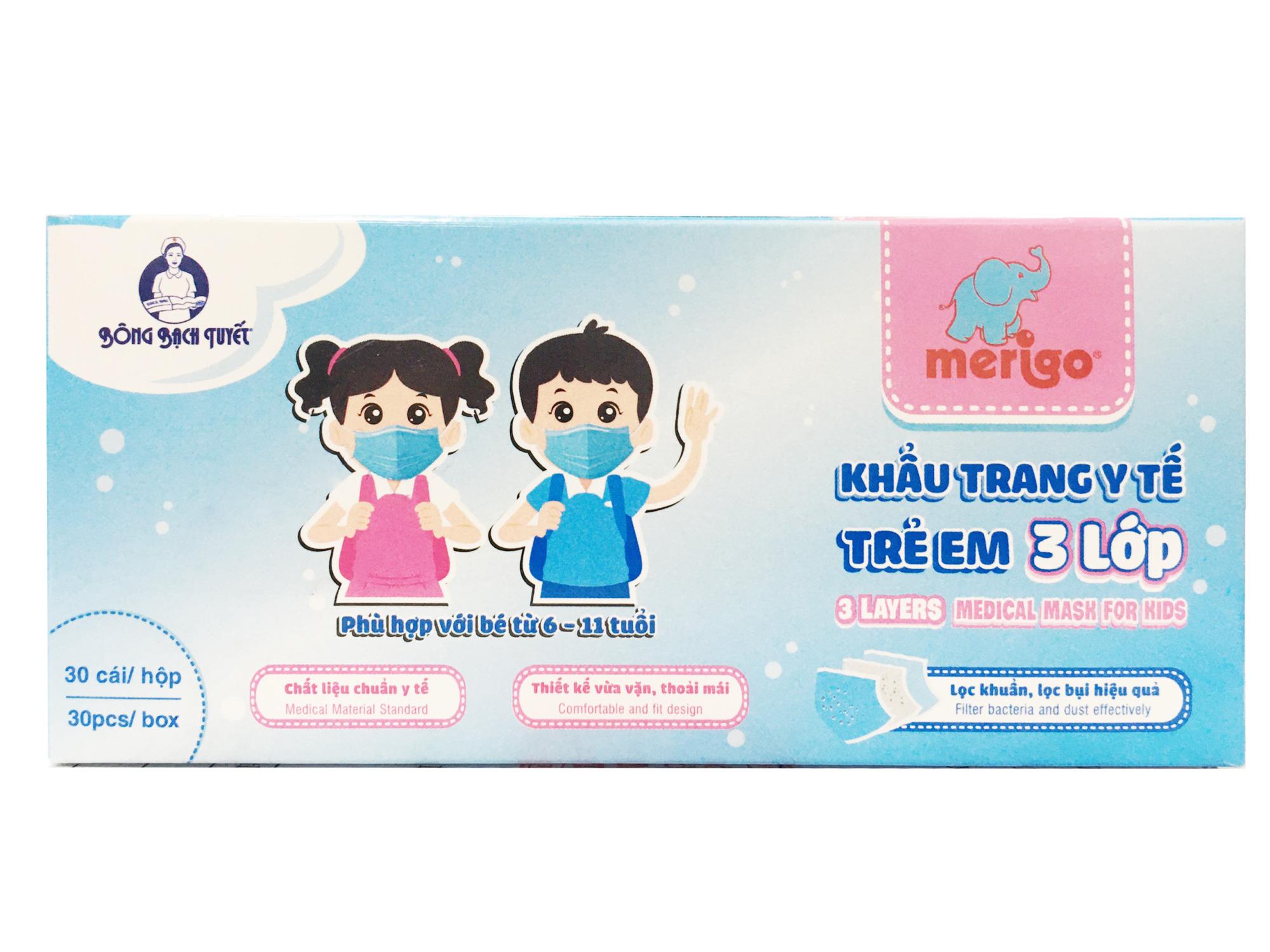 Khẩu trang trẻ em Merigo 3 lớp