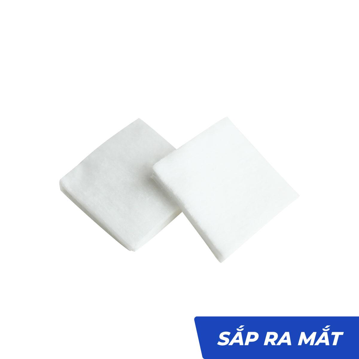Bông y tế cắt miếng 2cmx2cm tiệt trùng thấm nước - Bông Bạch Tuyết